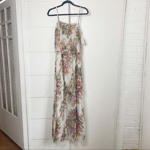 NWT Willow and Clay tiered floral maxi dress